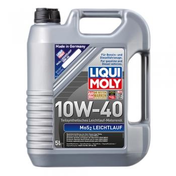 Масло моторное с молибденом Liqui Moly 10W-40 MoS2 Leichtlauf (5 л)