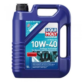 Масло для 4-тактных лодочных моторов Liqui Moly MARINE 4T MOTOR OIL 10W-40 (5 л)