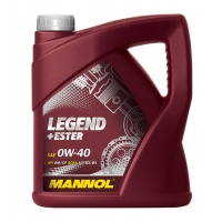 Масло моторное Mannol 0W-40 Legend+Ester (4 л), 1864, Mannol, Моторное масло
