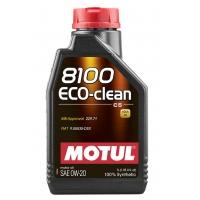 Синтетическое моторное масло Motul 8100 Eco-Clean 0W-20 (1 л), 10968, Motul, Моторное масло