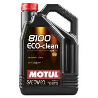 Синтетическое моторное масло Motul 8100 Eco-Clean 0W-20 (5 л), 10969, Motul, Моторное масло
