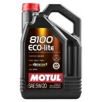 Синтетическое моторное масло Motul 8100 ECO-LITE 5W-20 (5 л), 10665, Motul, Моторное масло