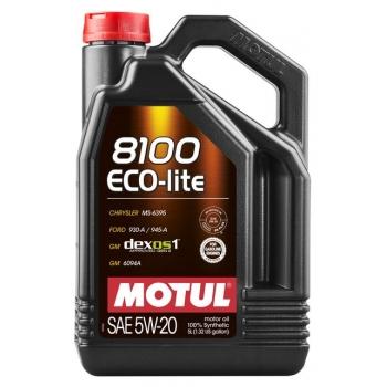 Синтетическое моторное масло Motul 8100 ECO-LITE 5W-20 (5 л)