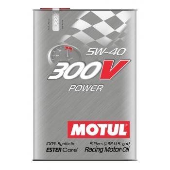 Спортивное моторное масло Motul 300V Power SAE 5W-40 (5 л)