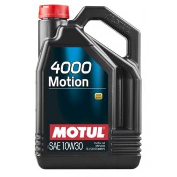 Минеральное моторное масло Motul 4000 Motion 10W-30 (5 л)