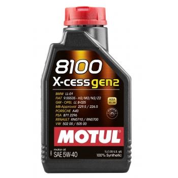 Синтетическое моторное масло Motul 8100 X-cess 5W-40 (1 л)