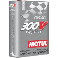 Спортивное моторное масло Motul 300V Trophy SAE 0W-40  (2 л), 11185, Motul, Моторное масло
