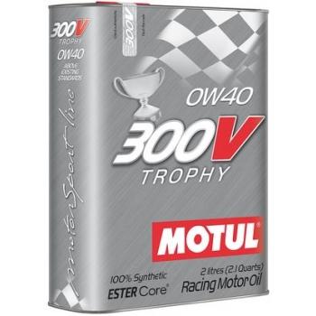Спортивное моторное масло Motul 300V Trophy SAE 0W-40  (2 л)