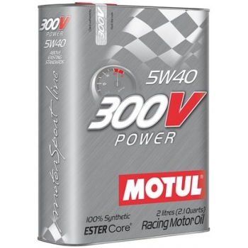 Спортивное моторное масло Motul 300V Power SAE 5W-40 (2 л)