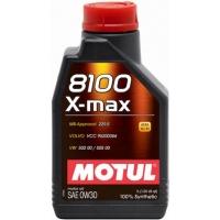 Синтетическое моторное масло Motul 8100 X-max 0W-30 (1 л), 3118, Motul, Моторное масло