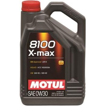 Синтетическое моторное масло Motul 8100 X-max 0W-30 (5 л)