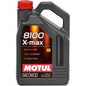 Синтетическое моторное масло Motul 8100 X-max 0W-30 (4 л)