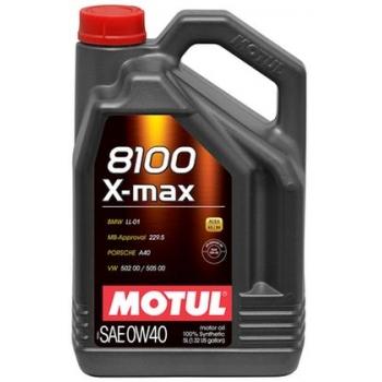 Синтетическое моторное масло Motul 8100 X-max 0W-40 (4 л)