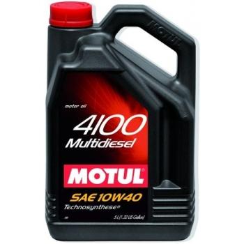 Полусинтетическое моторное масло Motul 4100 Multidiesel 10W-40 (5 л)