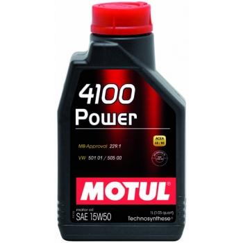 Полусинтетическое моторное масло Motul 4100 Power 15W-50 (1 л)