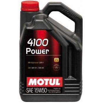 Полусинтетическое моторное масло Motul 4100 Power 15W-50 (4 л)