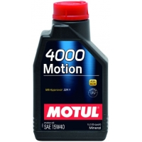 Минеральное моторное масло Motul 4000 Motion 15W-40 (1 л), 3220, Motul, Моторное масло
