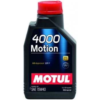 Минеральное моторное масло Motul 4000 Motion 15W-40 (2 л)