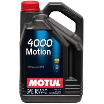 Минеральное моторное масло Motul 4000 Motion 15W-40 (4 л)