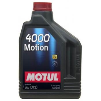 Минеральное моторное масло Motul 4000 Motion 10W-30 (2 л)