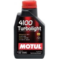 Полусинтетическое моторное масло Motul 4100 Turbolight 10W-40 (1 л), 3207, Motul, Моторное масло