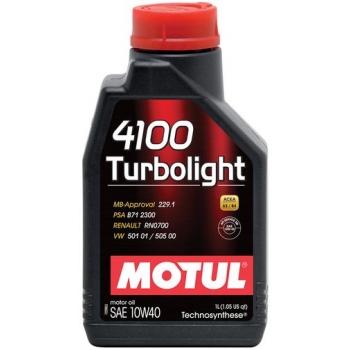 Полусинтетическое моторное масло Motul 4100 Turbolight 10W-40 (1 л)