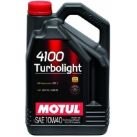 Полусинтетическое моторное масло Motul 4100 Turbolight 10W-40 (4 л), 3208, Motul, Моторное масло