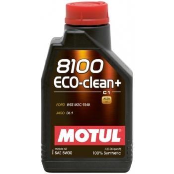 Синтетическое моторное масло Motul 8100 Eco-clean+ 5W-30 (1 л)