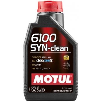 Синтетическое моторное масло Motul 6100 Syn-clean 5W-30 (1 л)
