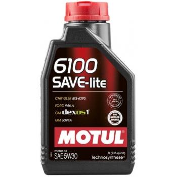 Синтетическое моторное масло Motul 6100 Save-lite 5W-30 (1 л)