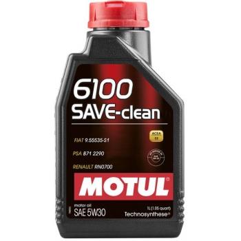 Синтетическое моторное масло Motul 6100 Save-clean 5W-30 (1 л)
