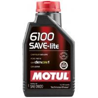 Синтетическое моторное масло Motul 6100 Save-lite 0W-20 (1 л), 10971, Motul, Моторное масло