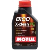 Синтетическое моторное масло Motul 8100 X-Clean FE 5W-30 (1 л), 3158, Motul, Моторное масло