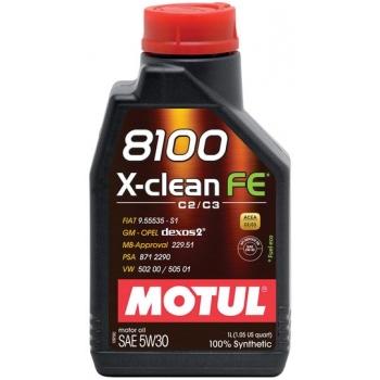 Синтетическое моторное масло Motul 8100 X-Clean FE 5W-30 (1 л)