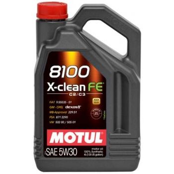 Синтетическое моторное масло Motul 8100 X-Clean FE 5W-30 (4 л)