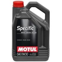 Синтетическое моторное масло Motul SPECIFIC VW 506 01 506 00 503 00 0W-30 (5 л), 3239, Motul, Моторное масло
