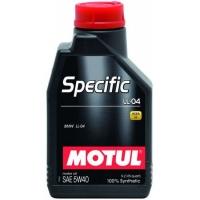 Синтетическое моторное масло Motul SPECIFIC LL-04 5W-40 (1 л), 3339, Motul, Моторное масло