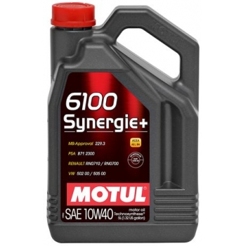 Полусинтетическое моторное масло Motul 6100 Synergie+ 10W-40 (5 л)
