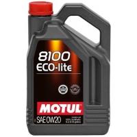 Синтетическое моторное масло Motul 8100 Eco-lite 0W-20 (5 л), 3125, Motul, Моторное масло