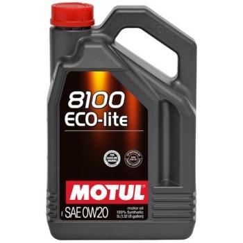 Синтетическое моторное масло Motul 8100 Eco-lite 0W-20 (5 л)