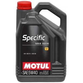 Синтетическое моторное масло Motul SPECIFIC VW 505 01 502 00 5W-40 (5 л)