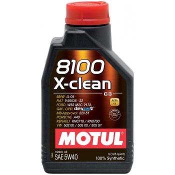 Синтетическое моторное масло Motul 8100 X-Clean 5W-40 (1 л)