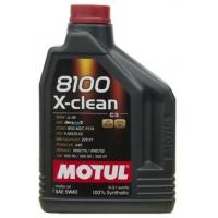 Синтетическое моторное масло Motul 8100 X-Clean 5W-40 (2 л), 3144, Motul, Моторное масло