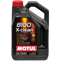 Синтетическое моторное масло Motul 8100 X-Clean 5W-40 (5 л), 3146, Motul, Моторное масло
