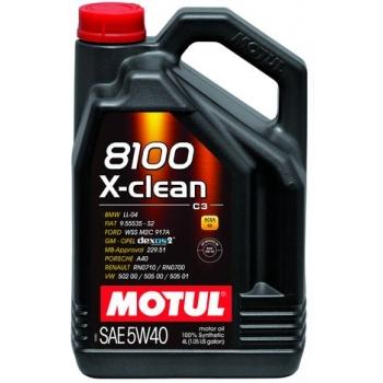 Синтетическое моторное масло Motul 8100 X-Clean 5W-40 (4 л)