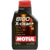 Синтетическое моторное масло Motul 8100 X-Clean+ 5W-30 (1 л), 3161, Motul, Моторное масло