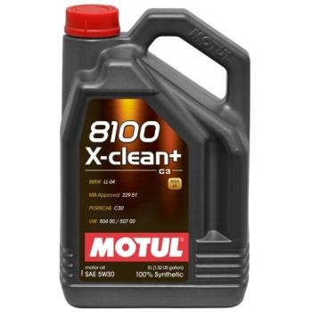 Синтетическое моторное масло Motul 8100 X-Clean+ 5W-30 (5 л)