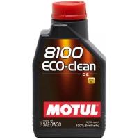 Синтетическое моторное масло Motul 8100 Eco-Clean 0W-30 (1 л), 3138, Motul, Моторное масло