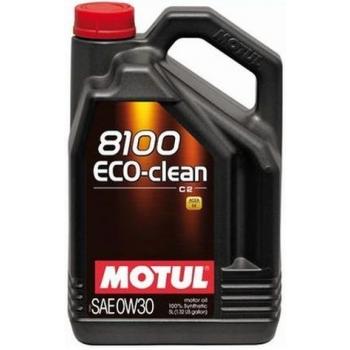 Синтетическое моторное масло Motul 8100 Eco-Clean 0W-30 (5 л)