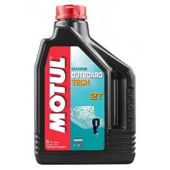 Масло для 2-х тактных лодочных моторов Motul Outboard Tech 2T (2 л)